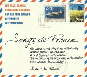 Songs de France : les plus grands standards français par les plus grands interprètes internationaux / Nina Simone, Billie Holiday, Terry Jacks, Duke Ellington, Grace Jones, George Benson, Roger Whittaker, Shirley Bassey, Johnny Mathis, Morris Albert, Louis Armstrong, Platters (The) | Simone, Nina. Interprète