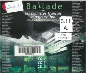 Ballade avec les pianistes français d'aujourd'hui, vol. 2   Haendel, George Frédéric. Auteur